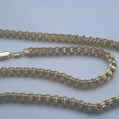 Lant Barbati dublu placat aur 18K,lungime 60cm,grosime 0,6cm