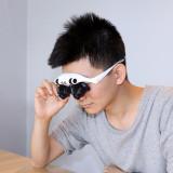 Lupa ochelari Lupa Dubla Lumina 8 LUPE interschimbabile lupe 10X 15X 20X 25X LED