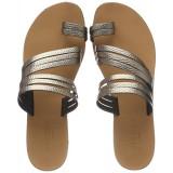 Papuci Piele Pieces Mavis, 40, Argintiu
