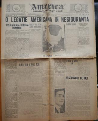 Ziarul America , nr. 33 din 1927 , Cleveland , Ohio , in limba romana foto