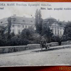 ORADEA MARE-Resedinta Episcopala Rom.Cat. Interbelica tiparita la Budapesta., Necirculata, Fotografie