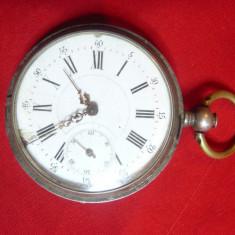 Ceas de buzunar Ancre 15 rubine Fleury Geneve ,capace argint marcaj 84,lipsa che
