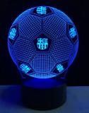 Cumpara ieftin Lampa veioza fotbal 3D FCB iluzie laser led mingie campionat Barcelona +CADOU!
