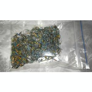 LOT de 1000 rezistente 0,25 W (codul culorilor)