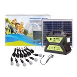 Kit fotovoltaic complet cu LED-uri pentru cabane 30W/6LED/17Ah + incarcator...