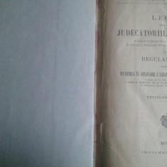 Lege pentru judecatoriile de ocoale-1908