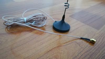 Antena cu suport magnetic pentru router (cablu ecranat 3 metri) foto