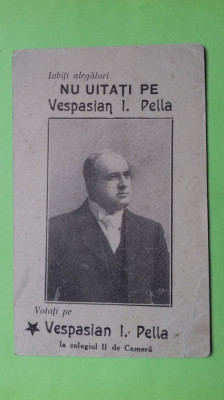 Iasi  Vespasian Pella Profesor , jurist , diplomat foto