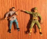 Lot 2 figurine soldati plastic, 5cm, colectie