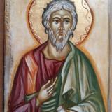 Icoana pe lemn Sf. Ap. Andrei, pictura manuala