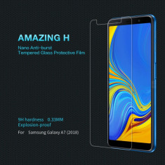Folie Sticla Securizata / Tempered Glass pt Samsung Galaxy A7 2018 / 9H, Alt model telefon Samsung