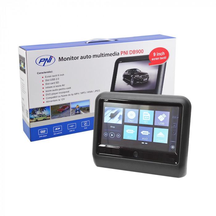 Resigilat : Monitor auto multimedia PNI DB900 negru cu ecran tactil de 9 inch, DVD