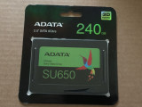SSD 240GB ADATA Ultimate SU650 nou 3D NAND, 240 GB, SATA 3, A-data