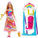 Set de joaca Barbie Dreamtopia cu leagan