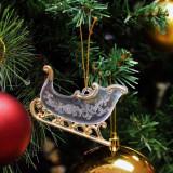 Ornamente de Craciun: Saniuta Transparenta pentru brad