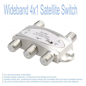 Switch DiSEqc 4 LNB in - 1 out Receiver Satellite, 4 in 1 out