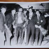 Fotografie mare , originala , 1971 , Ion Tiriac la a doua finala in Cupa Davis