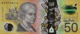 Bancnota Australia 50 Dolari 2018 - PNew UNC ( polimer - serie noua )
