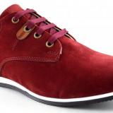 Pantofi barbatesti bordo piele intoarsa - Gado, 43