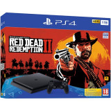 Consola Sony Ps4 Slim 1Tb Jet Black + Red Dead Redemption 2