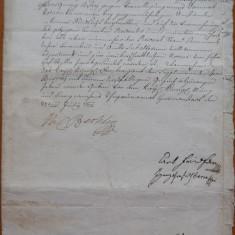 Document din Ardeal , 1774 , semnat de Wil. Bethlen ,autorul istoriei Ardealului