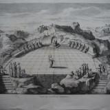 Gravura de dimensiuni mari ; Vedere din aeropagul Atenei ; De secol 19, Istorice, Cerneala, Realism