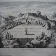 Gravura de dimensiuni mari ; Vedere din aeropagul Atenei ; De secol 19
