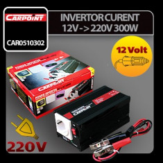 Invertor curent de la 12V la 220V 300W Carpoint - CRD-CAR0510302