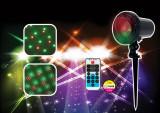 Proiector laser Craciun, exterior / interior, rosu + verde, carcasa din aluminiu si telecomanda