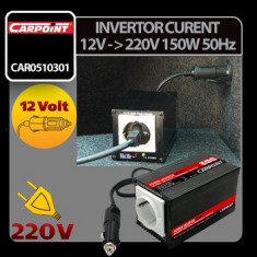 Invertor curent de la 12V la 220V 150W 50Hz Carpoint - CRD-CAR0510301