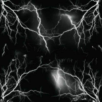 Sticker Bomb Black Lightning Strike (1m x 1,5m) foto