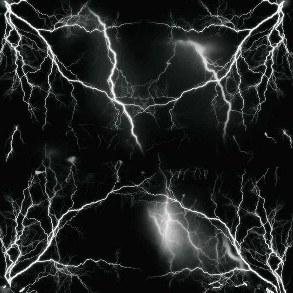 Sticker Bomb Black Lightning Strike (1m x 1,5m)