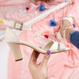 Sandale Piele Nadida bej