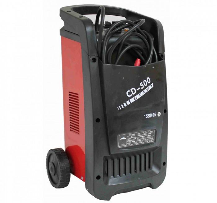 Robot pornire si redresor baterie auto 12V 24V 360A 50KW, incarcator acumulator CD-500
