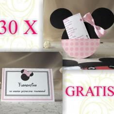 30 invitatii Minnie Mouse si carduri asezare gratis