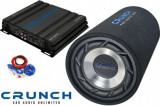 Pachet Bass Auto (Amplificator, Statie + Subwoofer Bass + Kit de Cabluri) Crunch 500 W 25 cm - BLO-Power Tube Pack