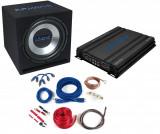 Pachet Bass Auto (Amplificator, Statie + Subwoofer Bass + Kit de Cabluri) Crunch Ground Pounder 750 W 30 cm - BLO-CBP 1000