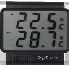 Termometru auto Carpoint interior - exterior cu alerta inghet 7.5 x 6 cm - BA2-1121212