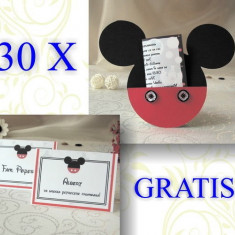 30 invitatii Mickey Mouse si carduri asezare gratis
