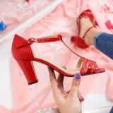 Sandale Piele Sameria rosii