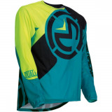 Moose Racing Tricou Qualifier Teal/Yellow S9 Copii