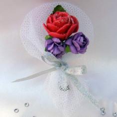 Cocarde nunta flori artificiale C17T