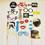 Set 20 buc ochelari, palarii, buze, mustati, acceosrii amuzante SET-FUN-9