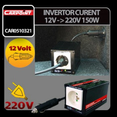 Invertor curent de la 12V la 220V 150W Carpoint - CRD-CAR0510321