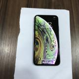 IPHONE XS NEGRU 64 GB cutie IMPECABIL NEVERLOCK, Gri, 64GB
