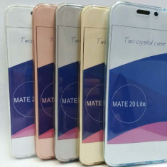 Husa silicon cu protectie 360° fata + spate pt Huawei Mate 20 lite