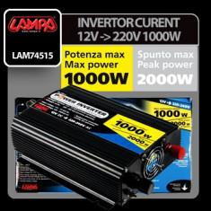 Invertor curent de la 12V la 220V 1000W - CRD-LAM74515