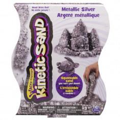 Nisip Kinetic, 454 g, Argintiu metalic