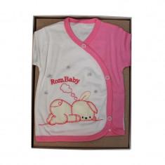 Set cadou bebe 5 piese iepuras roz RBSN05