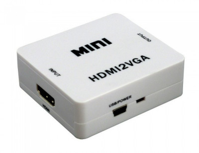 Adaptor HDMI - VGA | Audio dedicat foto